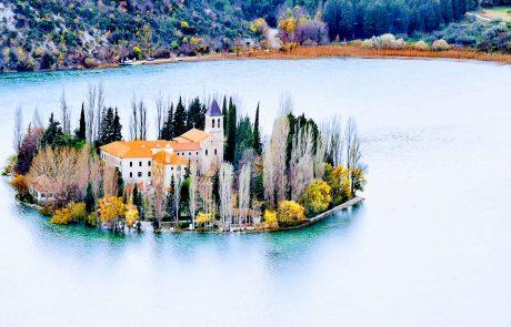 Krka Waterfalls Visovac monastery