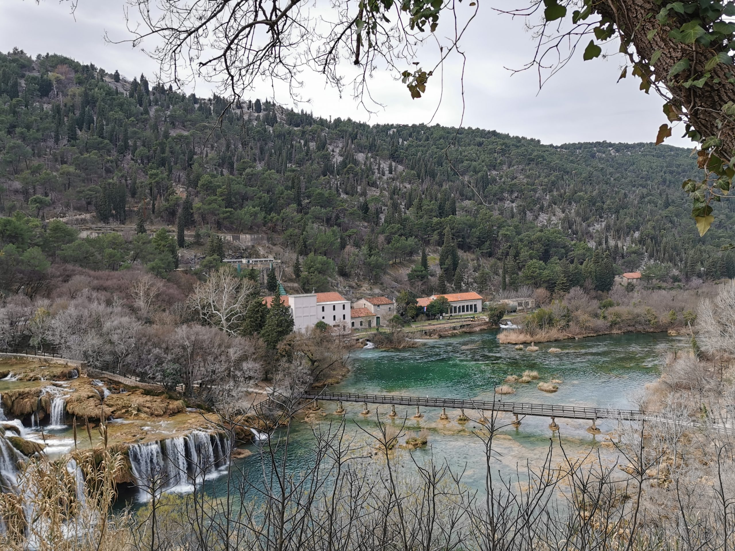 Overlooking the Krka falls